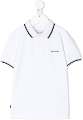 Woolrich Kids Logo Embroidered Polo Shirt