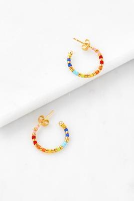 Estella Bartlett Miyuki Bead Hoop Earrings - Assorted ALL at Urban Outfitters