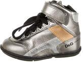 Dolce & Gabbana Boys' Metallic High-Top Sneakers