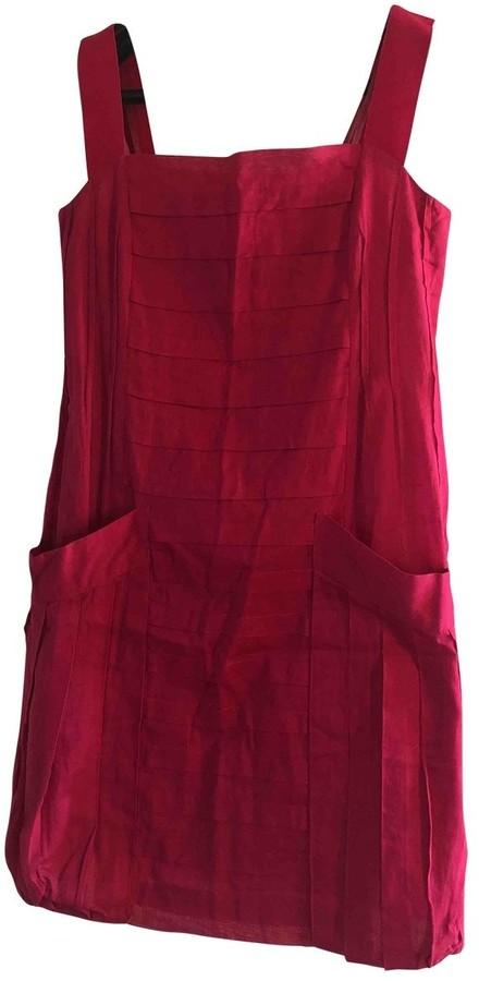 Philosophy di Alberta Ferretti Red Cotton Dress for Women