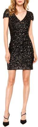 Heartloom Kaley Sequin Short Sleeve Bodycon Dress