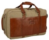 Tommy Bahama Men's Canvas & Leather Wheeled Suitcase - Beige