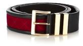 Balmain Velvet And Leather Belt