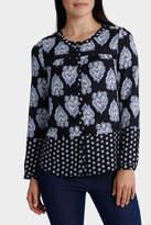 Regatta Paisley Print Crochet Trim Long Sleeve Shirt