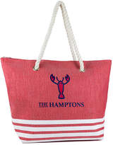 Magid Women's Totebags RED/WHITE - Red & White Lobster Rope-Handle Tote