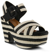 Azura Amare Striped Platform Sandal