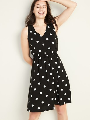 Old Navy Waist-Defined V-Neck Sleeveless Dress for Women