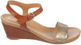 Naturalizer Silva Metallic & Tan Sandal