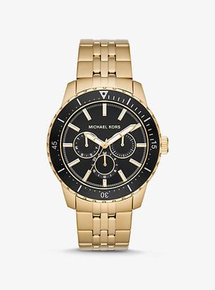 Michael Kors Oversized Cunningham Gold-Tone Watch