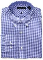 Nautica Men's Classic Performance Gingham Button Down Collar Dress Shirt
