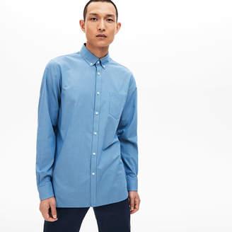 Lacoste Men's Regular Fit Check Cotton Poplin Shirt