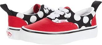 Vans Kids Era Elastic Lace (Little Kid) ((Polka Dot) Red/True White) Girls Shoes