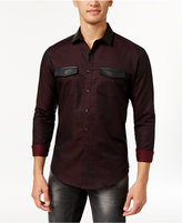 INC International Concepts Men's Faux-Leather Trim Shirt, Only at Macy's