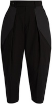 Issey Miyake Pleated-front cropped trousers