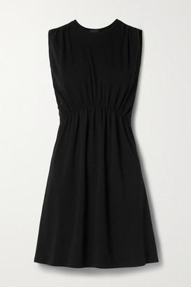 ATM Anthony Thomas Melillo Gathered Stretch Pima Cotton-jersey Mini Dress - Black