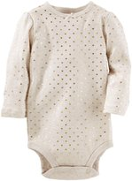 Osh Kosh Foil Heart Print Bodysuit - Heather - 24M