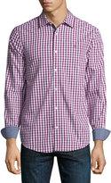 Original Penguin Gingham Short-Sleeve Sport Shirt, Pink