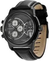 Police Men's VIPER PL.12739JSB/02 Leather Quartz Watch with Dial