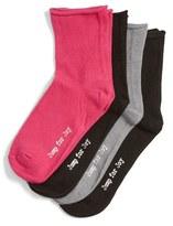 Hue Women's 'Jump For Joy' Roll Ankle Socks