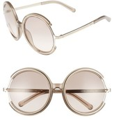 Chloé Women's Jayme 58Mm Round Sunglasses - Crystal Turtledove