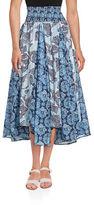 Context Paisley Peasant Skirt