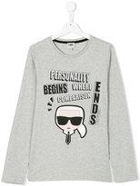 Karl Lagerfeld teen long-sleeve Karlito T-shirt