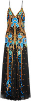 Temperley London Flutura embroidered tulle maxi dress