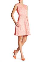 Ellen Tracy Jacquard Floral Dress