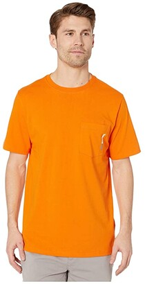 Timberland Base Plate Blended Short Sleeve T-Shirt (Light Grey Heather) Men's T Shirt