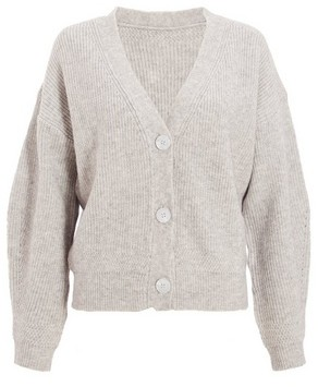 Dorothy Perkins Womens *Quiz Grey Knitted Crop Cardigan, Grey
