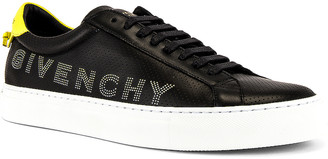 Givenchy Urban Street Low Sneaker in Black & Yellow | FWRD