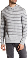Vince Stripe Knit Hooded Pullover