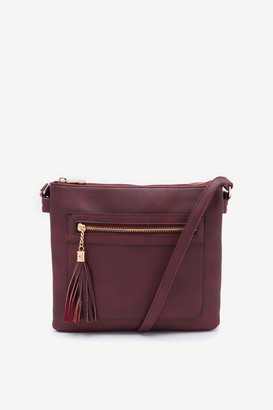 Ardene Textured Faux Leather Crossbody Bag