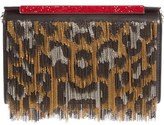 Christian Louboutin Vanité Metallic Leopard Leather Clutch