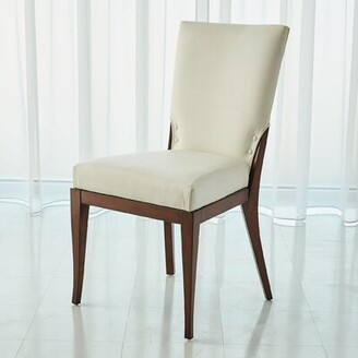 Global Views Opera Upholstered Dining Chair Upholstery Color: White