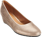 Clarks As Is Artisan Leather Wedge Pumps - Vendra Bloom