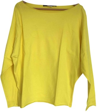 Les Prairies de Paris Yellow Cotton Top for Women