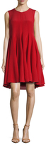 Vera Wang Silk Godet Skirt Trapeze Dress