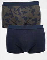 Esprit 2 Pack Trunks With Camo Print - Blue