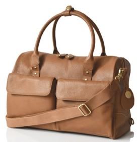 PacaPod Loreto Leather Convertible Diaper Bag