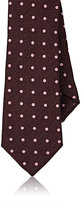 Barneys New York MEN'S DOTTED JACQUARD SILK NECKTIE