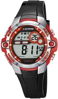 Calypso Unisex Digital Watch with LCD Dial Digital Display and Black Plastic Strap K5617/5