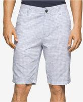 Calvin Klein Jeans Men's Grid-Print Cotton Shorts