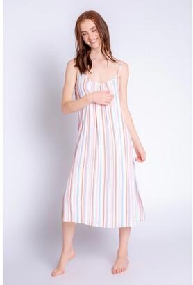 PJ Salvage Saturday Morning Stripe Dress, Multi Medium