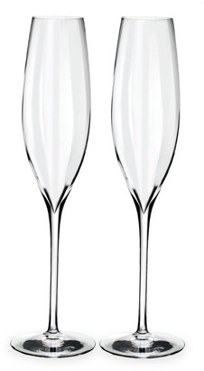 Waterford Set of Two Elegance Optic Classic Champagne Flutes