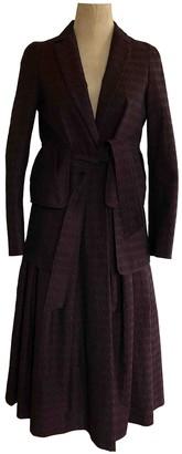 Dries Van Noten Burgundy Cotton Coats