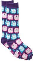 Pink Cookie Girls 4-16 Print Knee-High Sweater Socks