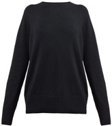 The Row Sibel Wool And Cashmere-blend Sweater - Womens - Black