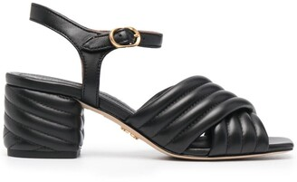 Tory Burch Quilted Crossover Sandals
