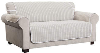 P/Kaufmann Home Harper Striped Sofa Furniture Cover Slipcover
